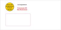 Briefumschläge für Energiereferenten und...